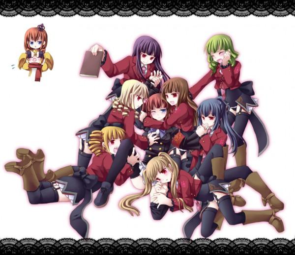 Tags: Anime, Kotoko (Oxxxo), 07th Expansion, Umineko no Naku Koro ni, Mammon (Sister of Purgatory), Ushiromiya Ange, Satan (Sister of Purgatory), Belphegor (Sister of Purgatory), Leviathan (Sister of Purgatory), Ushiromiya Maria, Asmodeus (Sister of Purgatory), Lucifer (Sister of Purgatory), Beelzebub (Sister of Purgatory), When The Seagulls Cry
