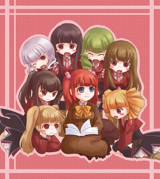 Tags: Anime, 07th Expansion, Umineko no Naku Koro ni, Ushiromiya Ange, Mammon (Sister of Purgatory), Satan (Sister of Purgatory), Belphegor (Sister of Purgatory), Leviathan (Sister of Purgatory), Asmodeus (Sister of Purgatory), Lucifer (Sister of Purgatory), Beelzebub (Sister of Purgatory), Stakes of Purgatory, When The Seagulls Cry