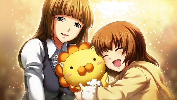 Tags: Anime, 07th Expansion, Umineko no Naku Koro ni, Ushiromiya Rosa, Ushiromiya Maria, Stuffed Lion, Hugging Toy, Sakutaro (Stuffed Lion), Wallpaper, HD Wallpaper, CG Art, Facebook Cover, When The Seagulls Cry