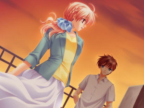 Tags: Anime, Underbar Summer, Kaizu Takumi, Nanao Hinako, CG Art