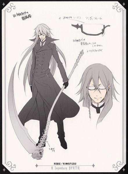 Tags: Anime, Pixiv Id 2060575, Toboso Yana, Kuroshitsuji, Undertaker, Character Sheet, Official Art