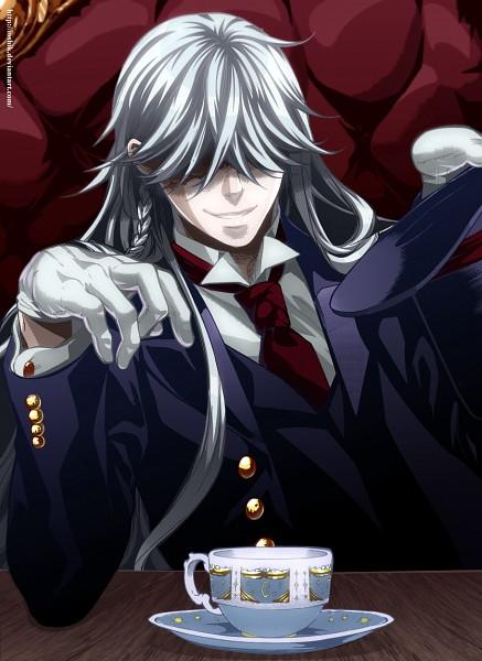 Tags: Anime, Ioshik, Kuroshitsuji, Undertaker, Colorization, Mobile Wallpaper