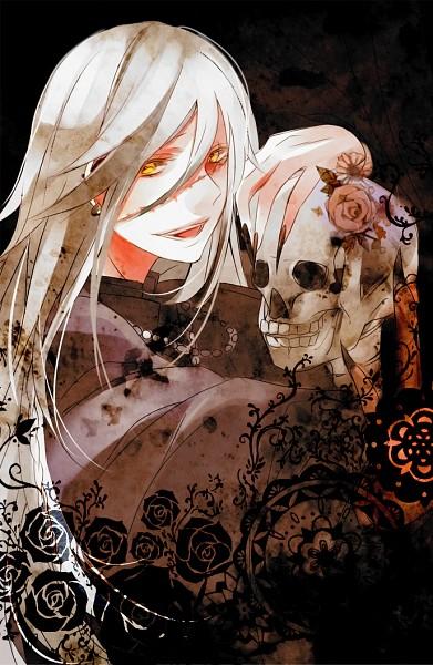 Tags: Anime, Hoe Satsuki, Kuroshitsuji, Undertaker, Mobile Wallpaper, Fanart, Pixiv