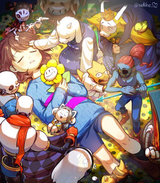 Tags: Anime, Nene (Mangaka), Undertale, Monster Kid, Frisk, Papyrus, Toriel, Mettaton, Alphys, Muffet, Undyne, Napstablook, Asgore Dreemurr