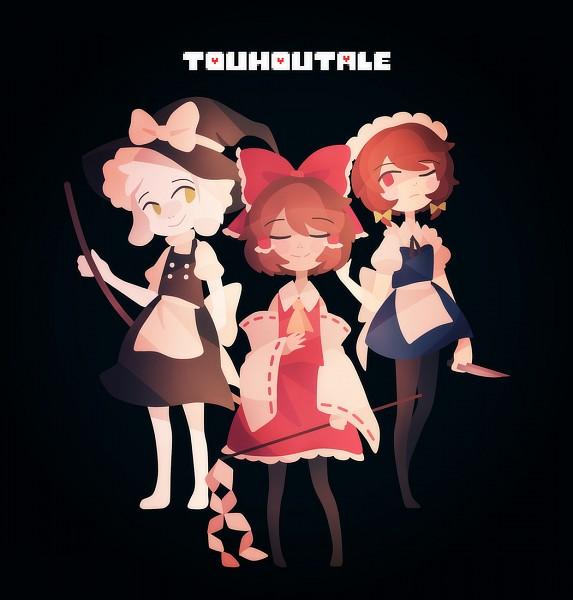 Tags: Anime, phantasmic, Undertale, Asriel Dreemurr, Chara (Undertale), Frisk, Touhou (Cosplay), Kirisame Marisa (Cosplay), Touhou (Parody), Hakurei Reimu (Cosplay), Izayoi Sakuya (Cosplay), Fanart From Pixiv, Pixiv