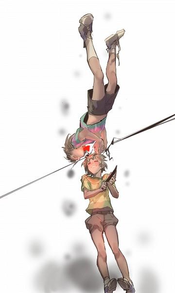 Tags: Anime, Yelshtea, Undertale, Chara (Undertale), Frisk, Fanart From Pixiv, Pixiv, Fanart