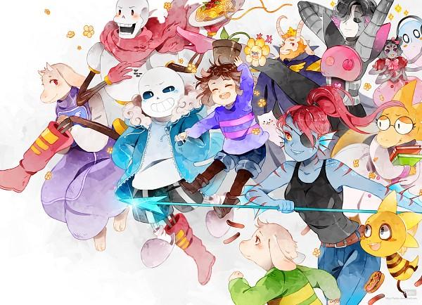 Tags: Anime, Hetiru, Undertale, Monster Kid, Mettaton, Papyrus, Toriel, Mettaton EX, Alphys, Muffet, Asgore Dreemurr, Undyne, Napstablook