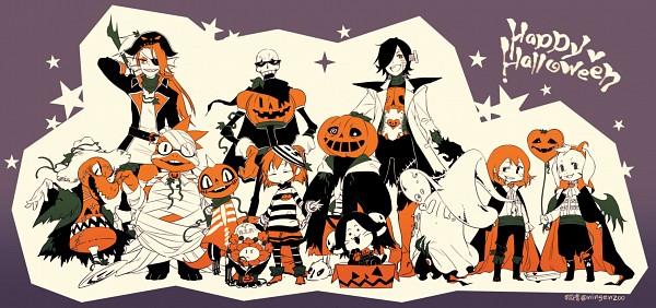 Tags: Anime, Kohn-nz, Undertale, Alphys, Napstablook, Mad Dummy, Undyne, Flowey, Asriel Dreemurr, Sans, Frisk, Temmie, Monster Kid