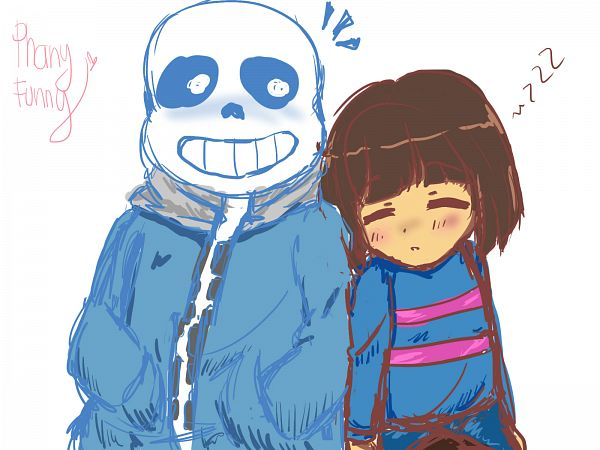 Tags: Anime, PhanyFunny, Undertale, Sans, Frisk, Self Made, Wallpaper