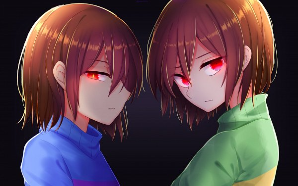 Tags: Anime, Pixiv Id 24070692, Undertale, Frisk, Chara (Undertale), Fanart From Pixiv, Pixiv, Fanart
