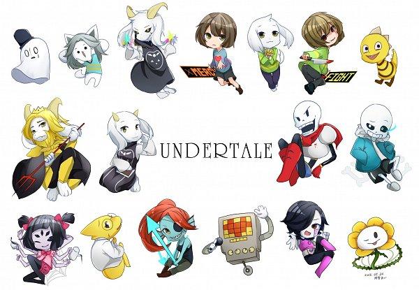 Tags: Anime, Narumiya Az, Undertale, Annoying Dog, Chara (Undertale), Papyrus, Flowey, Sans, Frisk, Asgore Dreemurr, Monster Kid, Asriel Dreemurr, Toriel