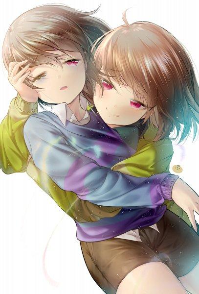 Tags: Anime, Pixiv Id 5940416, Undertale, Chara (Undertale), Frisk