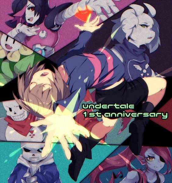 Tags: Anime, Pixiv Id 3842203, Undertale, Sans, Toriel, Mettaton EX, Flowey, Papyrus, Frisk, Undyne, Mettaton