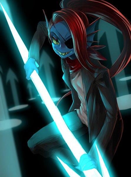 Tags: Anime, Pixiv Id 14669096, Undertale, Undyne