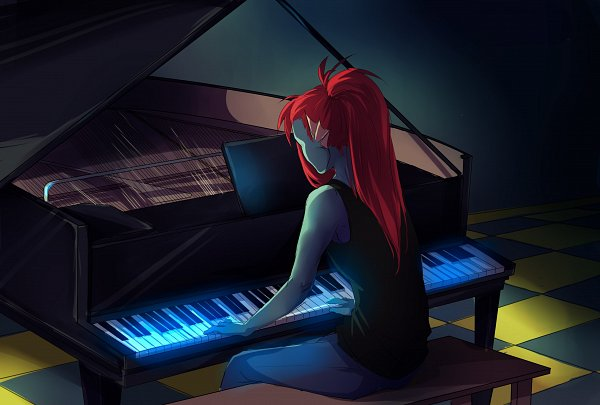Tags: Anime, Undertale, Undyne, Artist Request