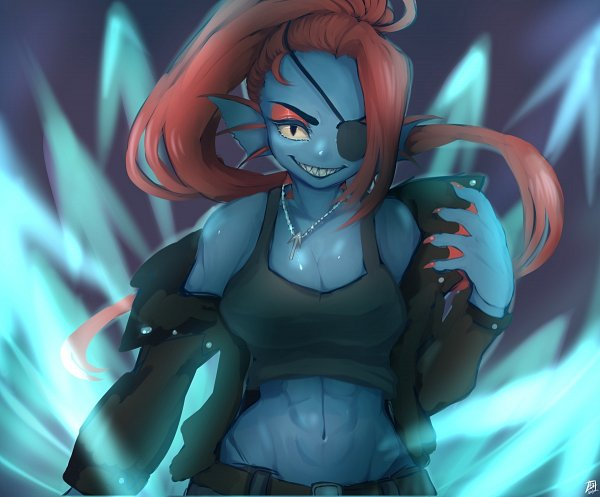 Tags: Anime, At (Pixiv172007), Undertale, Undyne
