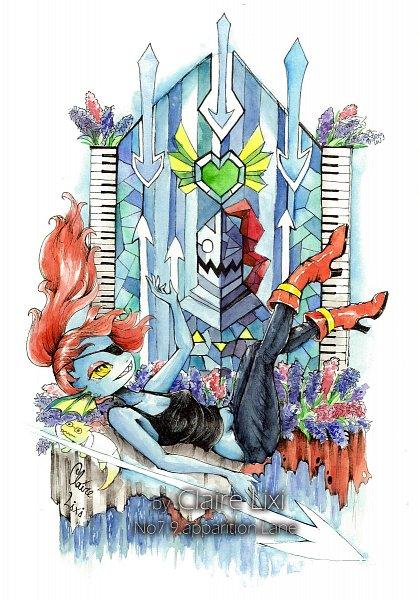 Tags: Anime, Pixiv Id 5051365, Undertale, Undyne
