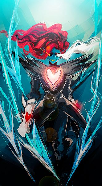 Tags: Anime, Pixiv Id 3289745, Undertale, Undyne the Undying, Undyne, Fanart From Pixiv, Pixiv, Fanart