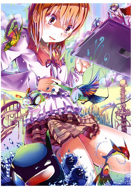 Tags: Anime, Unichiri, Pixiv Girls Collection, Pixiv Girls Collection 2011, Tablet, Drawing (Action), Pixiv