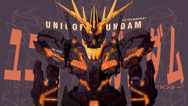 Tags: Anime, Pixiv Id 35577251, Unicorn Gundam Banshee, 5120x2880 Wallpaper, Pixiv, HD Wallpaper, Wallpaper, Fanart, Fanart From Pixiv, Gundams