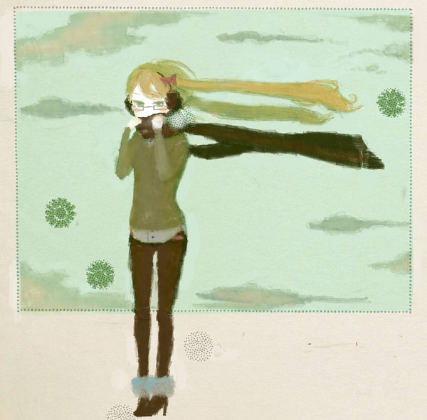 Tags: Anime, Pixiv Id 699116, Axis Powers: Hetalia, United Kingdom (Female), Dotted Line, Nyotalia, Pixiv