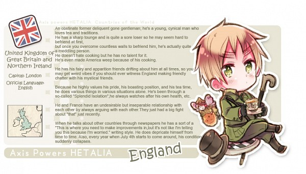 Tags: Anime, Himaruya Hidekaz, Axis Powers: Hetalia, United Kingdom, Character Profile, Facebook Cover, Official Art