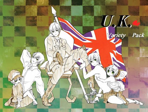 Tags: Anime, Maruebi, Axis Powers: Hetalia, Britannia Angel, United Kingdom, Sexy Waiter, Pixiv