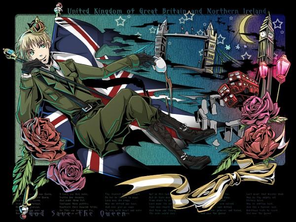 Tags: Anime, Nokaku, Axis Powers: Hetalia, United Kingdom, Big Ben, Bus, Fanart, Pixiv, Allied Forces