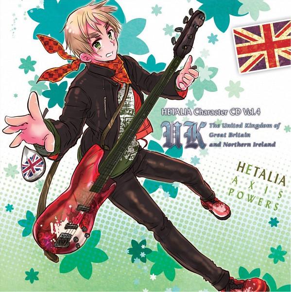 Tags: Anime, Himaruya Hidekaz, Axis Powers: Hetalia, United Kingdom, Bass Guitar, Scan, Official Art, CD (Source), Allied Forces