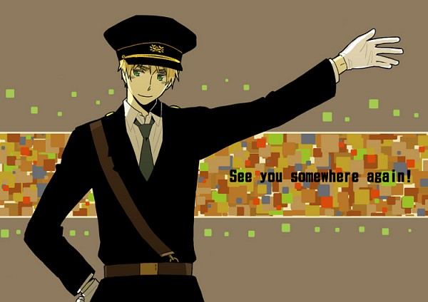 Tags: Anime, 5knot, Axis Powers: Hetalia, United Kingdom, Police Hat, Fanart, Pixiv, Allied Forces