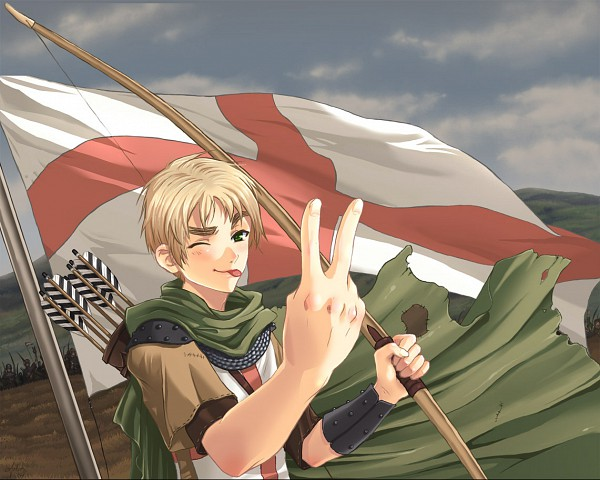 Tags: Anime, Axis Powers: Hetalia, United Kingdom, ;P, Medieval, Archer (Warrior), Artist Request, Allied Forces