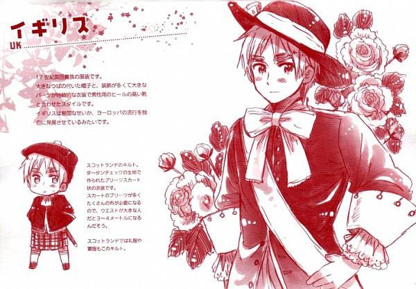 Tags: Anime, Himaruya Hidekaz, Axis Powers: Hetalia, United Kingdom, Kilt, Official Art, Allied Forces