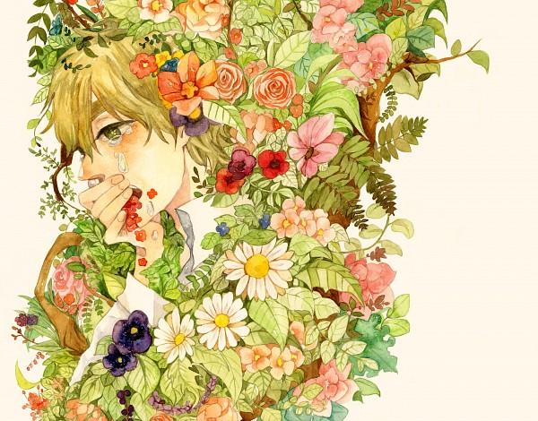 Tags: Anime, Kaeko, Axis Powers: Hetalia, United Kingdom, Pansy, Daisy (Flower), Pixiv, Fanart, Allied Forces