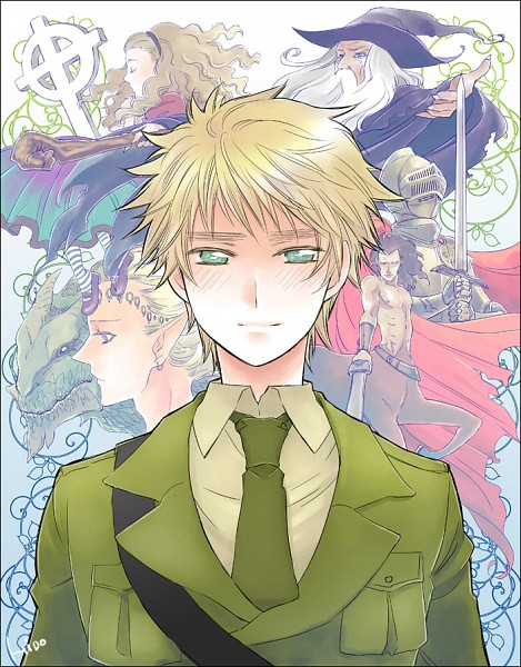 Tags: Anime, Hidou, Axis Powers: Hetalia, United Kingdom, Centaur, Sorcerer, Grave, Allied Forces
