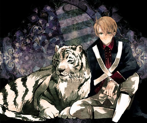 Tags: Anime, Napa, Axis Powers: Hetalia, United States, Flag Print, White Tiger, American Revolutionary War, Fanart, Fanart From Pixiv, Pixiv, Allied Forces