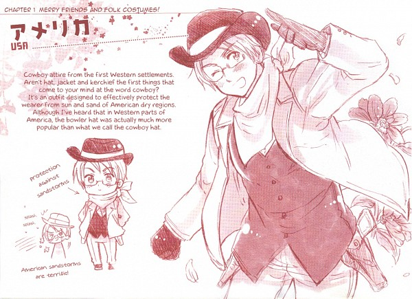 Tags: Anime, Himaruya Hidekaz, Axis Powers: Hetalia, United States, Character Sheet, Official Art, Allied Forces
