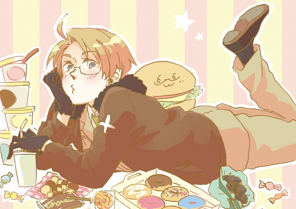 Tags: Anime, Pixiv Id 792397, Axis Powers: Hetalia, United States, Fast Food, Pixiv, Fanart From Pixiv, Fanart, Allied Forces