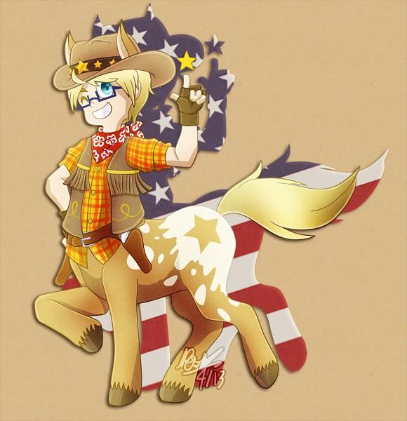 Tags: Anime, Axis Powers: Hetalia, United States, Rosemcsugar, Centaur, Artist Request, Allied Forces
