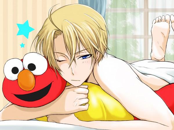 Tags: Anime, Pixiv Id 1542011, Axis Powers: Hetalia, Sesame Street, Elmo (Sesame Street), United States, Fanart, Pixiv, Fanart From Pixiv
