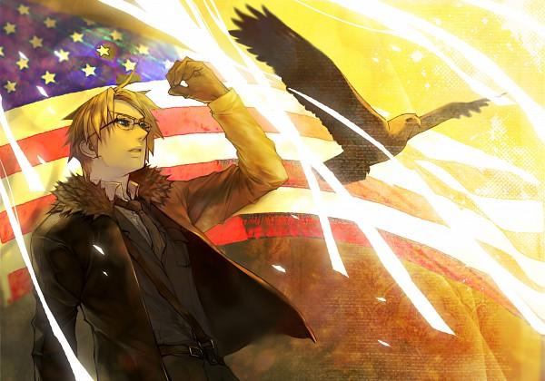 Tags: Anime, shishio*, Axis Powers: Hetalia, United States, Eagle, Fanart, Pixiv, Allied Forces
