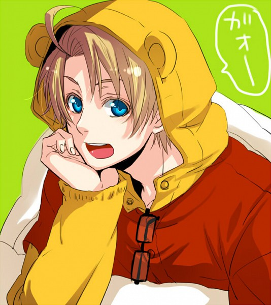Tags: Anime, Yoshizumi (pixiv875840), Disney, Axis Powers: Hetalia, Winnie the Pooh, United States, Bear Costume, Fanart, Pixiv, Allied Forces