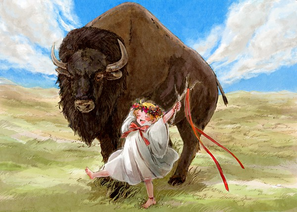 Tags: Anime, Pixiv Id 99314, Bisonbison, Axis Powers: Hetalia, United States, Cattle, Allied Forces