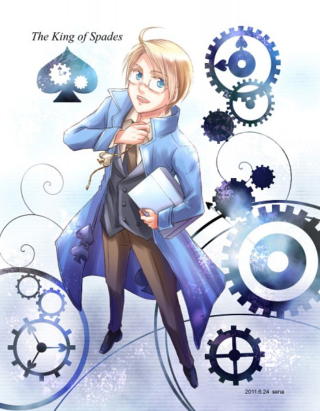 Tags: Anime, Pixiv Id 3045899, Axis Powers: Hetalia, United States, Cardverse, Allied Forces
