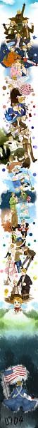 Tags: Anime, Pixiv Id 2393105, Axis Powers: Hetalia, Mochimerica, United States, United States (Female), Nyotalia, Card (Source), American Revolutionary War, Hitsuji de Oyasumi, Allied Forces