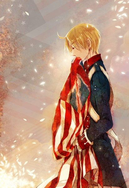 Tags: Anime, Saiyki, Axis Powers: Hetalia, United States, Flag Background, American Revolutionary War, Mobile Wallpaper, Allied Forces