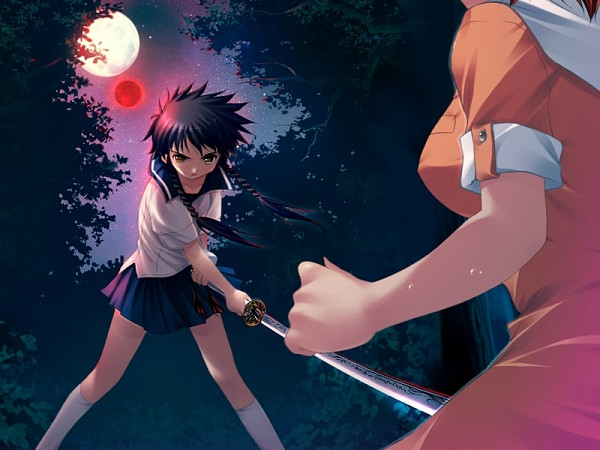 Tags: Anime, Mai-hiME, Unmei no Keitouju, Tokiha Mai, Minagi Mikoto, CG Art