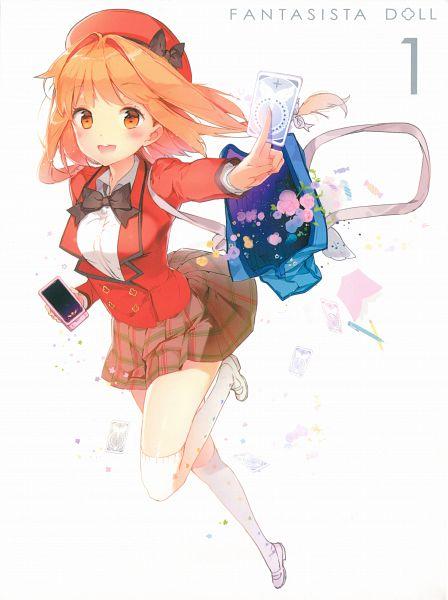 Tags: Anime, Anmi, Hoods Entertainment, Fantasista Doll, Uno Uzume, Official Art, Scan, DVD (Source)
