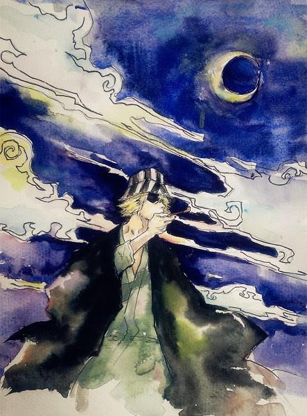 Tags: Anime, Pixiv Id 4396501, BLEACH, Urahara Kisuke, Watercolor, Fanart, Traditional Media, Pixiv, Fanart From Pixiv