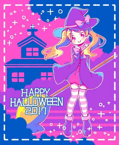 Tags: Anime, Pixiv Id 23533606, Kirakira☆Precure a la Mode, Usami Ichika, Text: Halloween, 2017, Fanart, Twitter