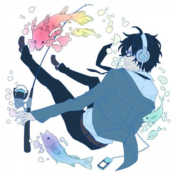 Tags: Anime, Hitsuji Hanatoutau, Tsuritama, Usami Natsuki, Fishing Rod, Fanart, Fanart From Pixiv, Pixiv